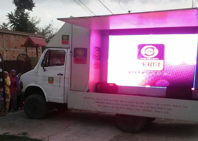 LED Mobile Van Campaign on rental in Chandigarh